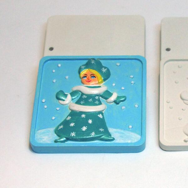 Елочная игрушка для росписи Снегурочка в Магазине Гипсики