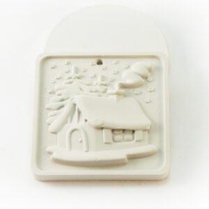 Елочная игрушка для росписи Домик в Магазине Гипсики