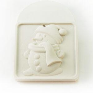 Елочная игрушка для росписи Снеговик в Магазине Гипсики