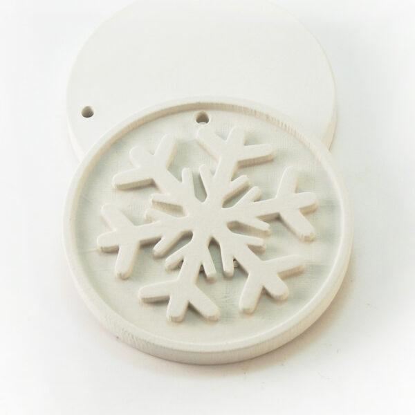 Елочная игрушка для росписи Снежинка в Магазине Гипсики