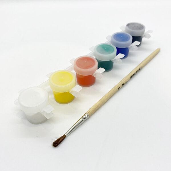 Новогодний набор елочных игрушек для раскраски Гипсики