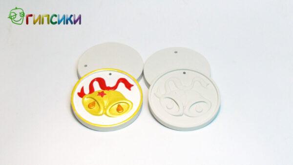 Елочная игрушка для росписи Колокольчики в Магазине Гипсики