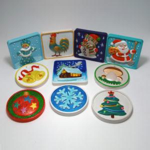 Елочные игрушки для росписи от ТМ Гипсики