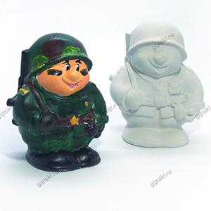 Гипсовая фигурка для раскрашивания Солдатик от ТМ Гипсики