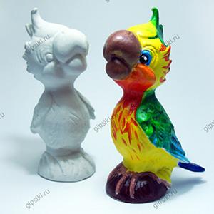 Гипсовая фигурка для раскрашивания Попугай от ТМ Гипсики