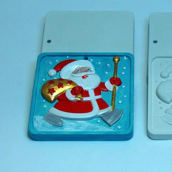 Елочная игрушка для росписи Дед мороз в Магазине Гипсики