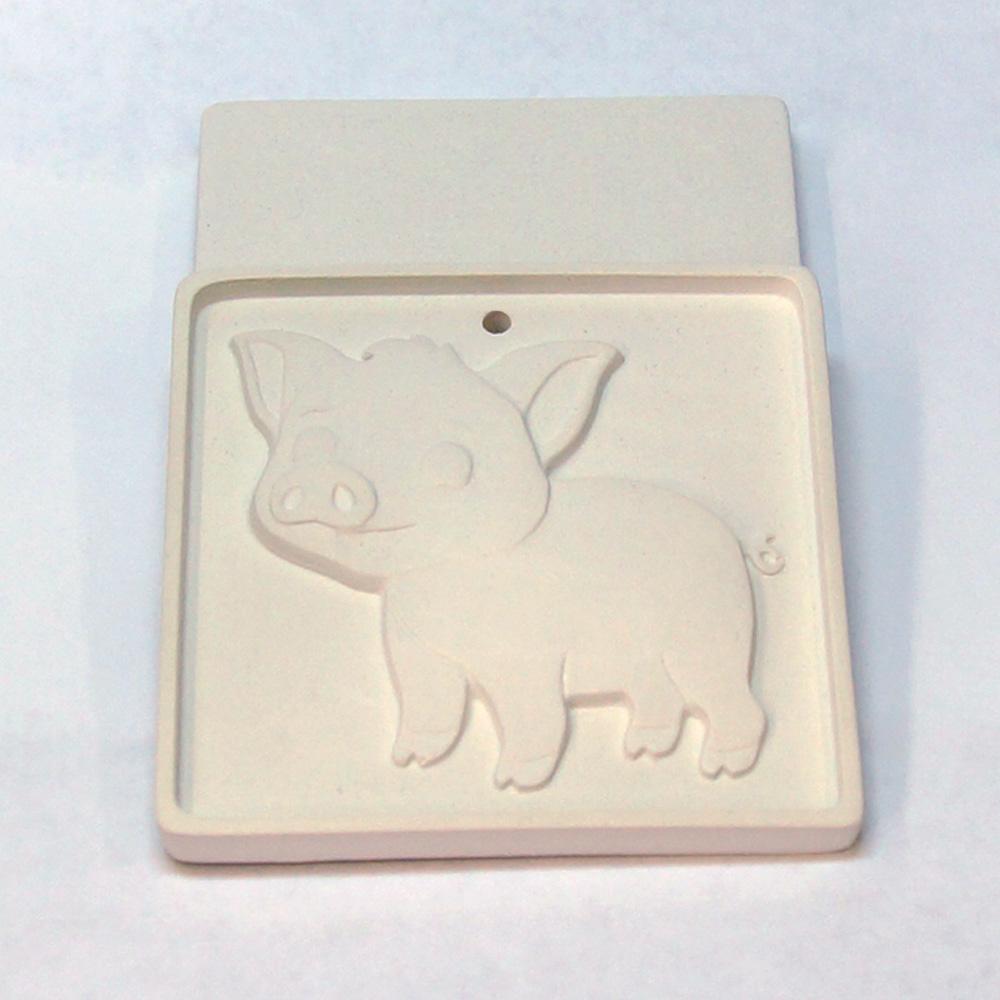 Елочная игрушка для росписи Свинка в Магазине Гипсики