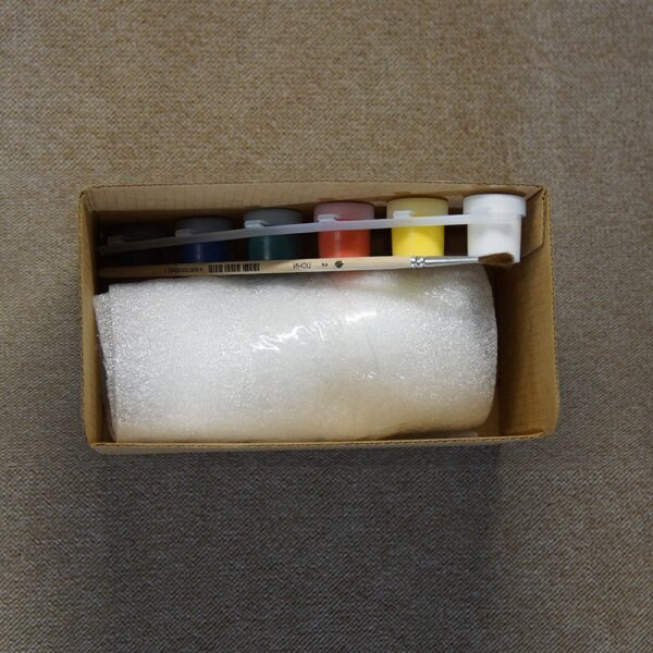 Набор для творчества «Новогодний 2020» В наборе: Фигурка «Крыс Борис», акриловые краски (6 цветов), кисточка из волоса пони №2.